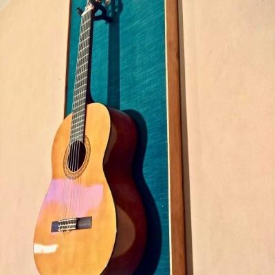 Guitar Display Wall hanger BLUE LAGOON Guitar Wall Hanger Stand41(watermarked)