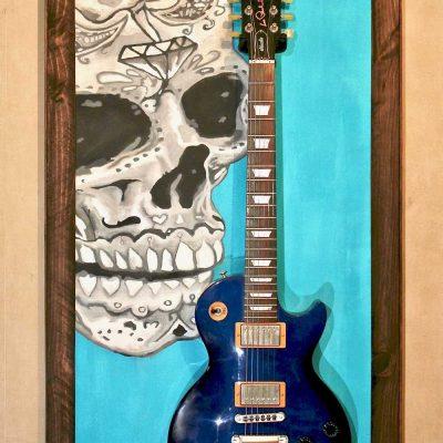Guitar Display Guitar Wall Hanger Showcase Guitare Cabinet Mexican Skull Guitar Hanger Stand 10(watermarked)Mexican Skull Guitar Hanger Stand 10(watermarked)