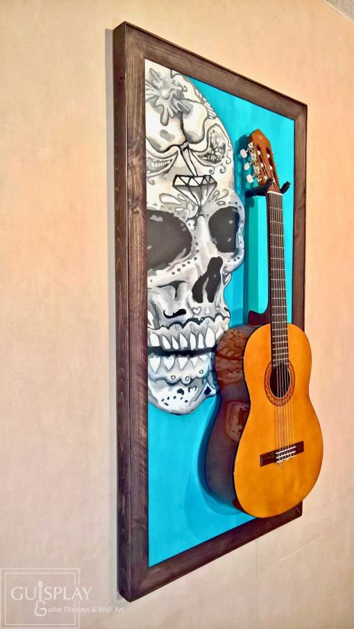 Mexican Skull Guitar Hanger Stand 15(watermarked)