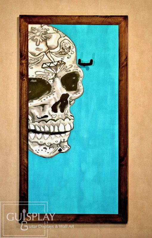 Mexican Skull Guitar Hanger Stand 1(watermarked)