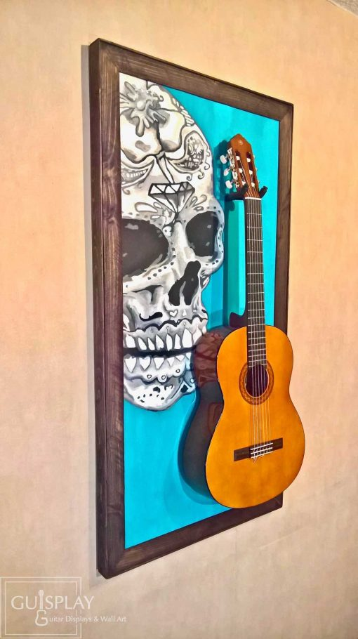 Mexican Skull Guitar Hanger Stand 30(watermarked)