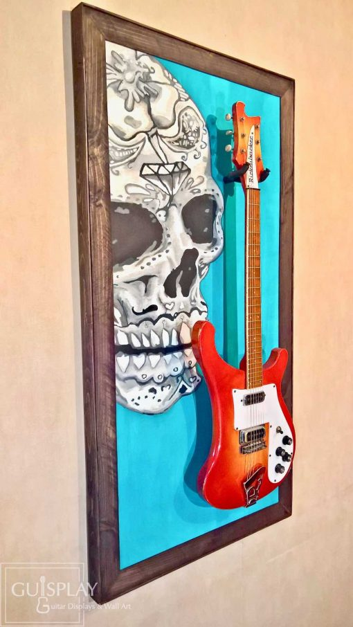 Mexican Skull Guitar Hanger Stand 31(watermarked)