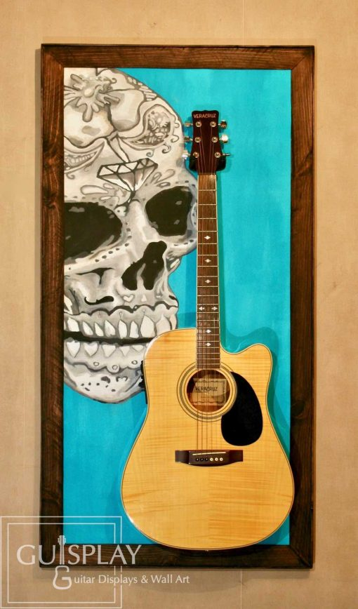 Mexican Skull Guitar Hanger Stand 3(watermarked)