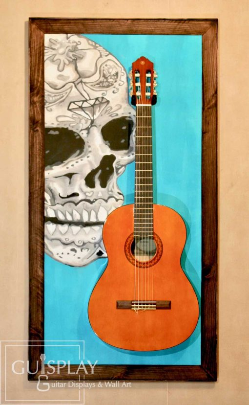 Mexican Skull Guitar Hanger Stand 4(watermarked)