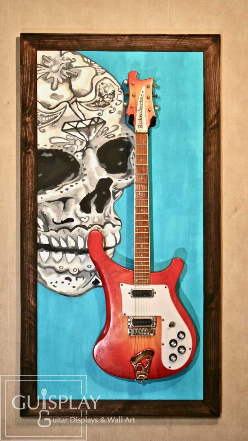 Mexican Skull Guitar Hanger Stand 9(watermarked)