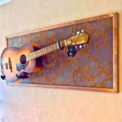 Guisplay display Horizontal Wall Hanger Guitar Display Stand Acoustic 6(watermarked)