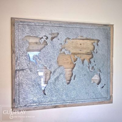 WORLD MAP STONE WOOD(watermarked)