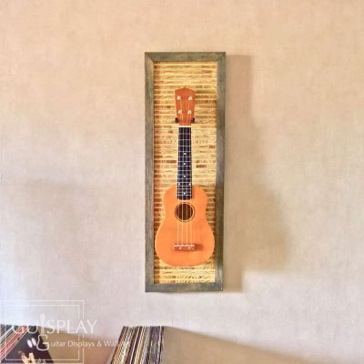 Guisplay Tiki 3 Support Ukulele Display and Wall Art Framed Creation11(watermarked)