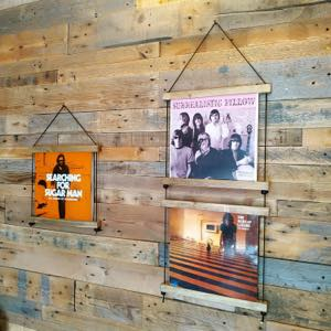 Lp record wall hanger display Vinyl handcraft handmade by Guisplay53